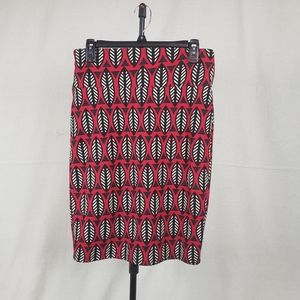 Lularoe african print red pencil skirt